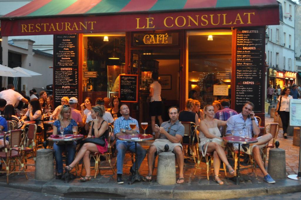 Kawiarniane życie Francji