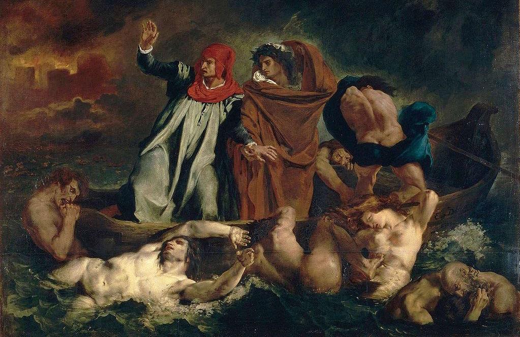 Dante i Wergiliusz w Piekle, Eugène Delacroix