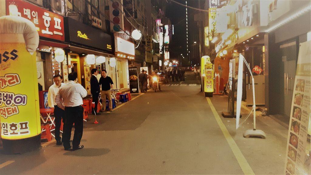 Ulica Seulu po godzinach pracy