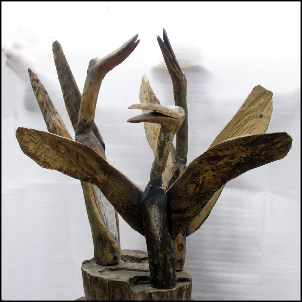 Józef Wilkoń. Ptaki szykujące się do odlotu